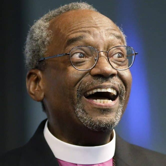 Presiding Bishop Michael Curry with a big smile