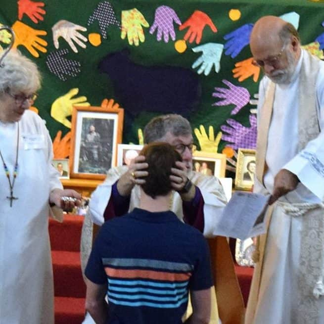 Several confirmations took place during Bishop Michael's visitation in November 2017.