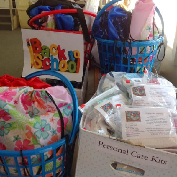 Back to School backpacks and care kits